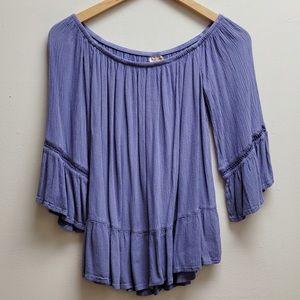 Mossimo small purple flowy boho top